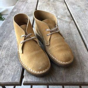 Eddie Bauer Camel Tan Suede Chukkas Ankle Boots 5